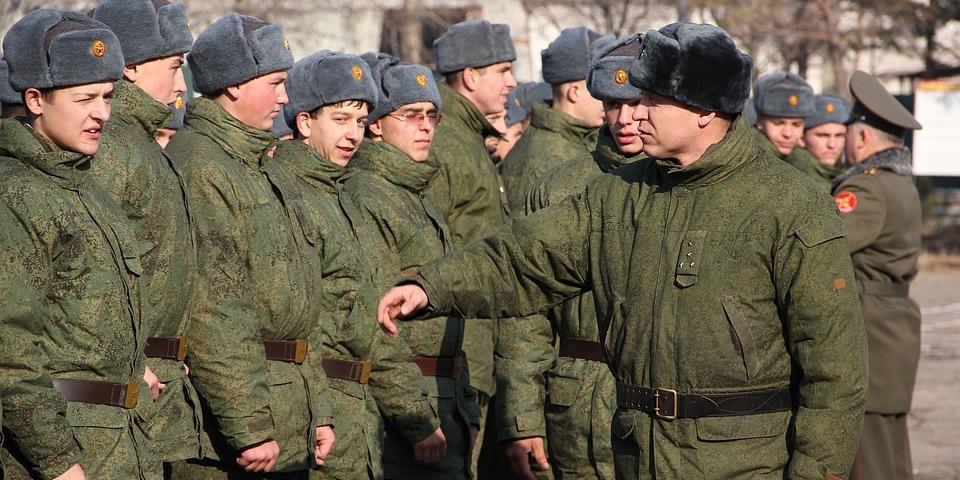 Призывники в армии