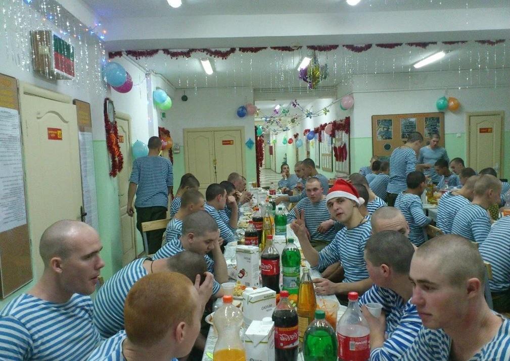 Празднование Нового года в казарме