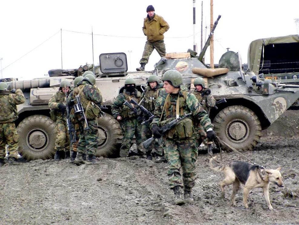 Солдаты в Чечне