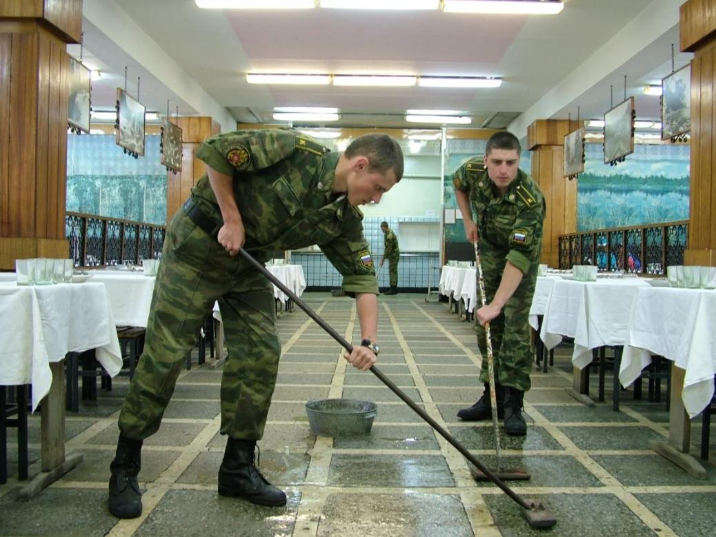 Солдаты в наряде