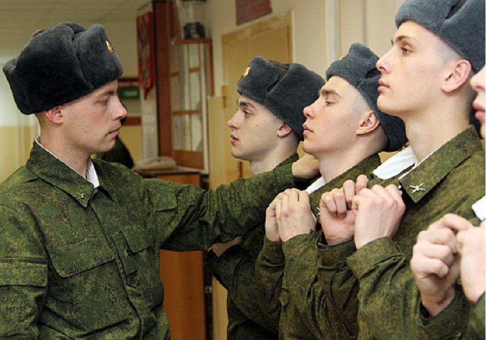 Проверка внешнего вида солдат