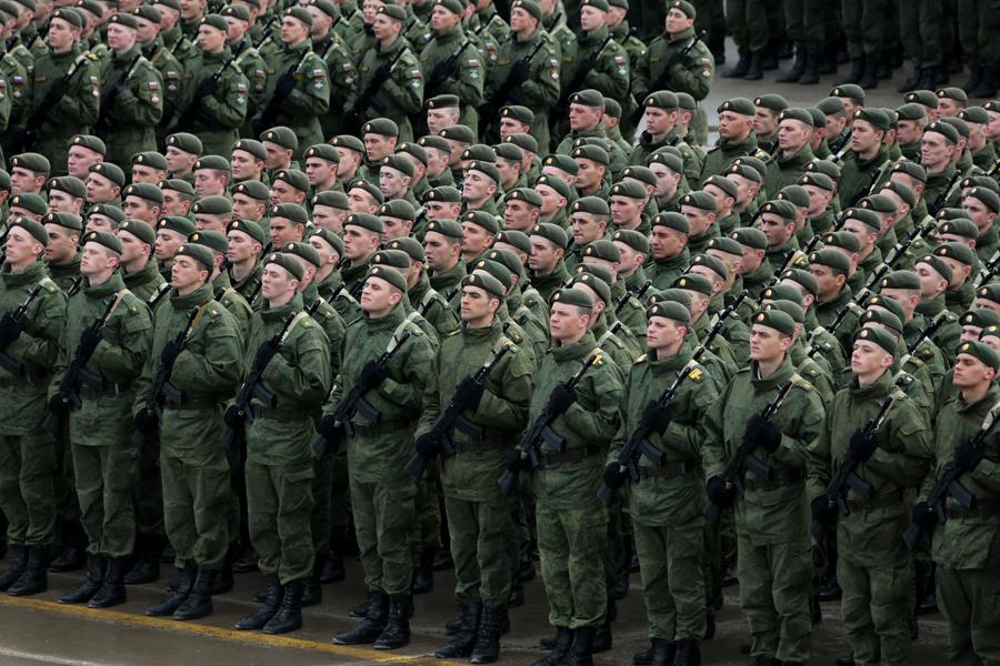 Ряды военнослужащих