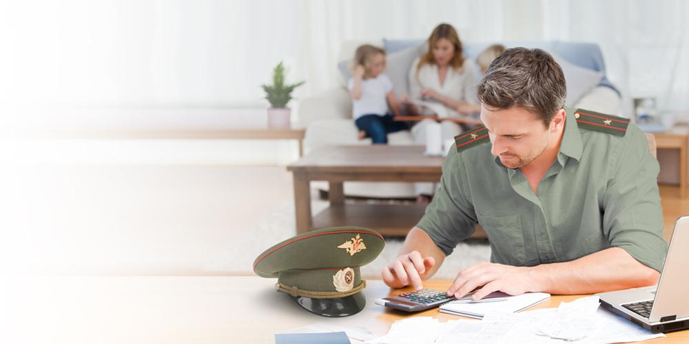 Военнослужащий с калькулятором