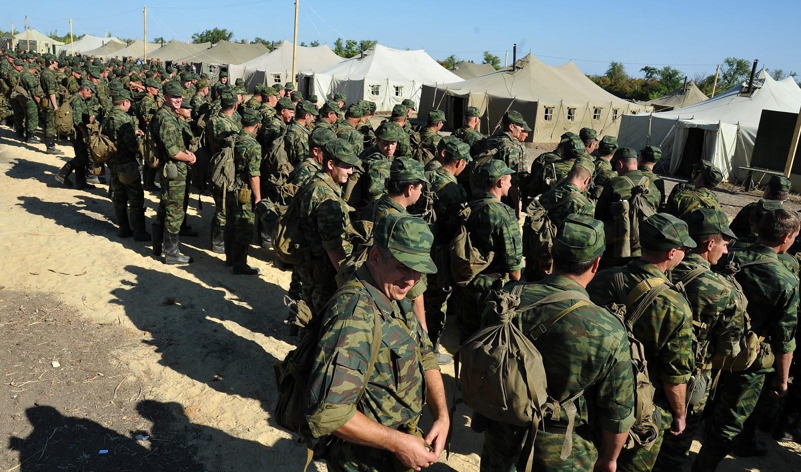 Солдаты на сборах