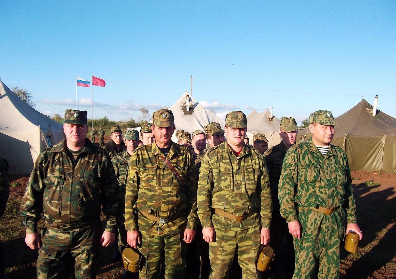 Военнослужащие на сборах