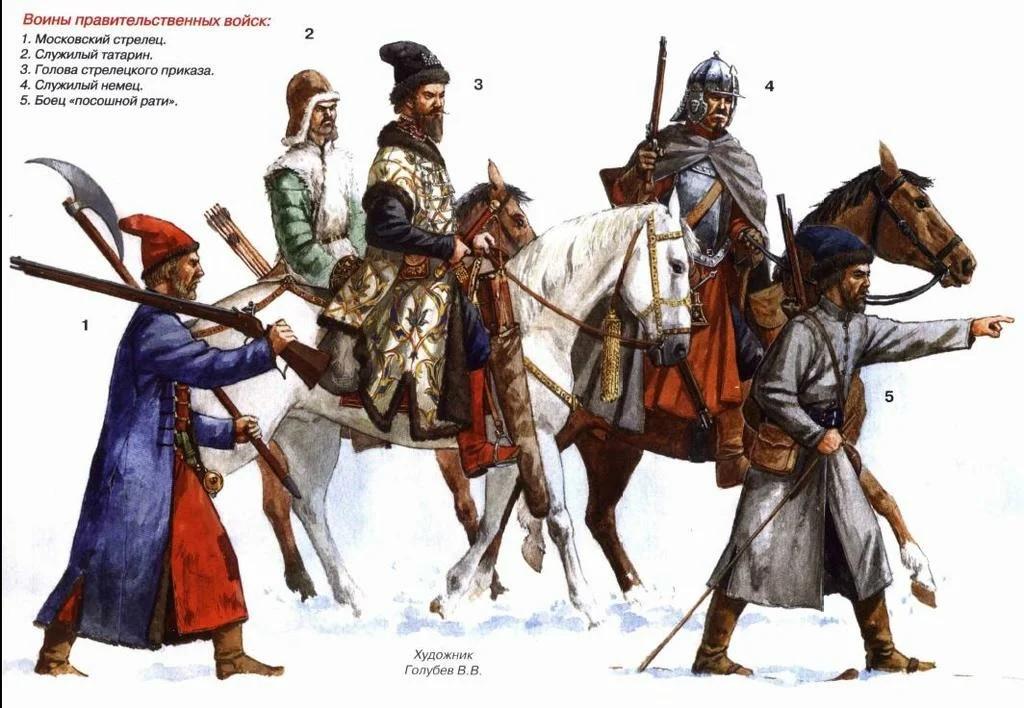 Воины Московского государства