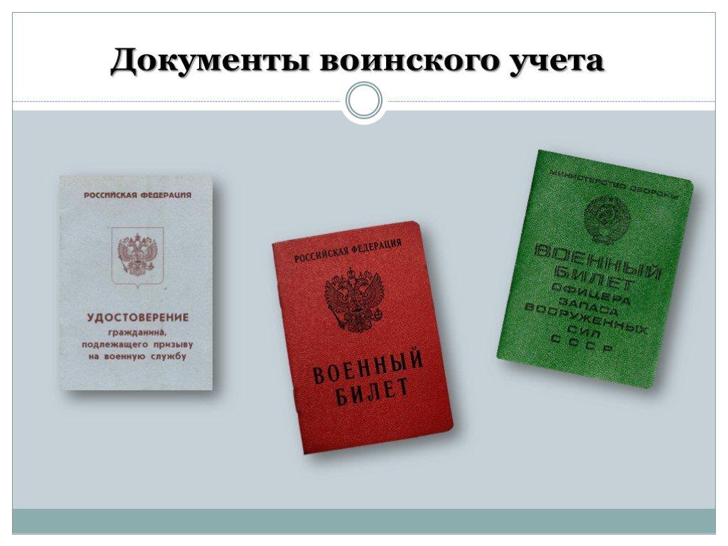 Документы воинского учета